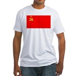 USSR Blank Flag Fitted T-Shirt