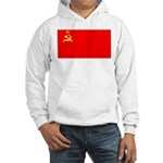 USSR Blank Flag Hooded Sweatshirt