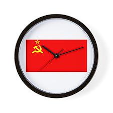 USSR Blank Flag Wall Clock
