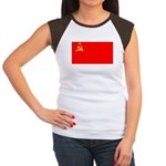 USSR Blank Flag Women's Cap Sleeve T-Shirt