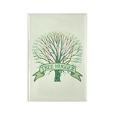 Sunny Tree Hugger Rectangle Magnet