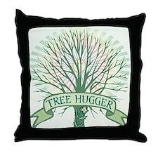 Sunny Tree Hugger Throw Pillow
