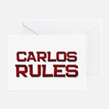 carlos rules Greeting Card
