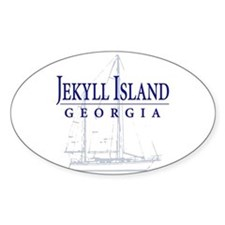 Jekyll Sailboat - Oval Decal