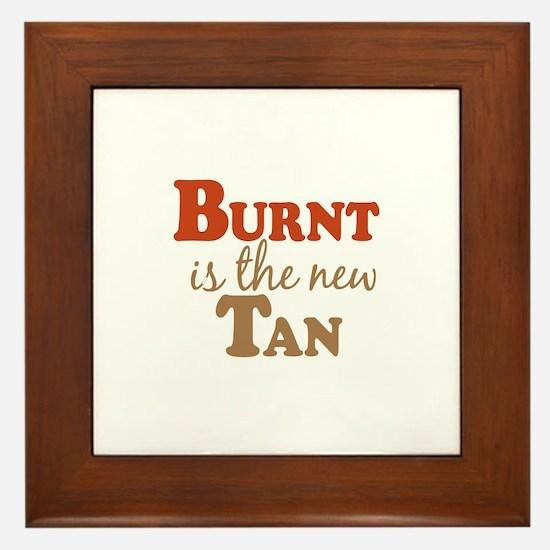 Burnt is the new Tan Framed Tile