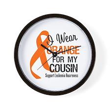 I Wear Orange For My Cousin Wall Clock