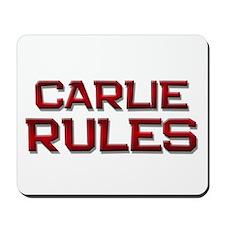 carlie rules Mousepad