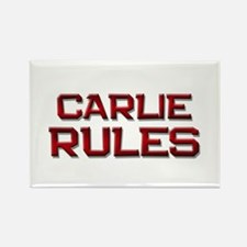 carlie rules Rectangle Magnet
