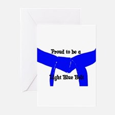 Proud to be Lt Blue Belt Greeting Cards (Pk of 10)
