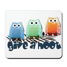 Give a hoot - Mousepad