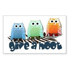 Give a hoot - Rectangle Decal