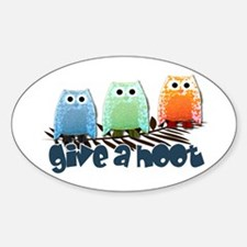 Give a hoot - Oval Decal