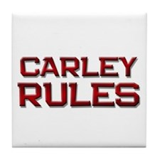 carley rules Tile Coaster