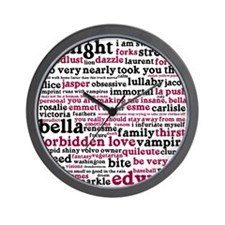 Cute Twilight quotes Wall Clock