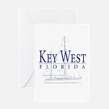 Key West Sailboat - Greeting Card