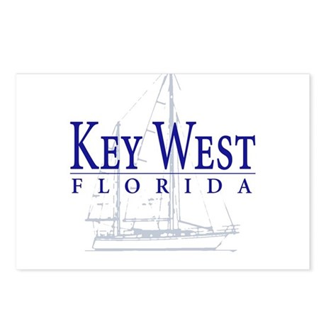 Key West Sailboat - Postcards (Package of 8)