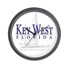 Key West Sailboat - Wall Clock