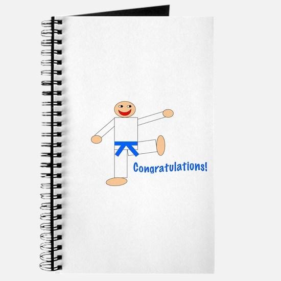 Light Blue Belt Congratulations Journal