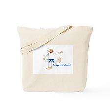 Light Blue Belt Congratulations Tote Bag