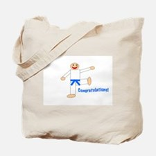 Light Blue Belt Congratulations Tote Bag