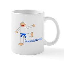 Light Blue Belt Congratulations Mug