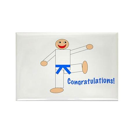 Light Blue Belt Congratulations Magnet 100PK