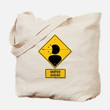 Sniper Warning - Rifle Tote Bag