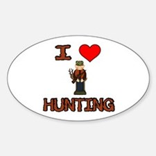 I Love Hunting Oval Decal