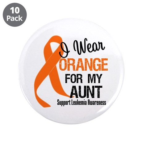 """I Wear Orange For My Aunt 3.5"""" Button (10 pack)"""