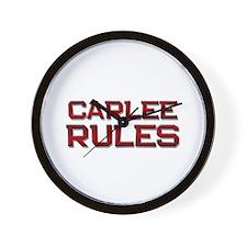carlee rules Wall Clock