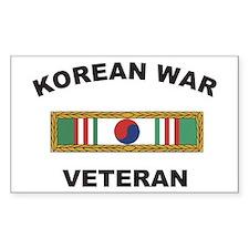 Korean War Veteran 1 Rectangle Decal