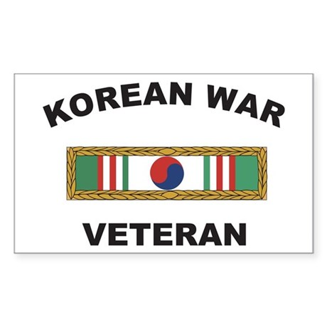 Korean War Veteran 1 Rectangle Sticker