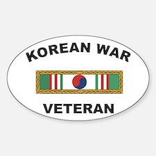 Korean War Veteran 1 Oval Decal