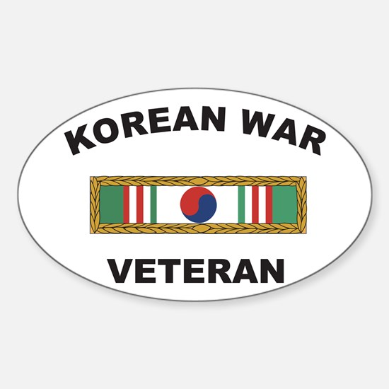 Korean War Veteran 1 Oval Decal