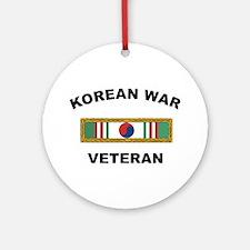 Korean War Veteran 1 Ornament (Round)