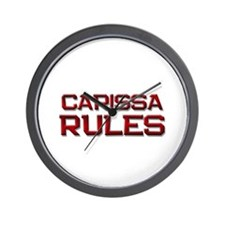 carissa rules Wall Clock