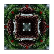 Virtual Christmas Wreath Tile Coaster