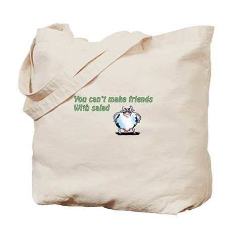 Can't Make Friends with Salad Tote Bag