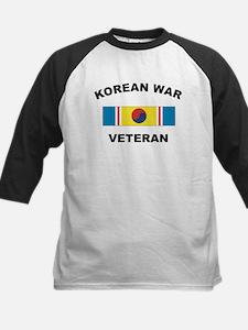 Korean War Veteran 2 Kids Baseball Jersey