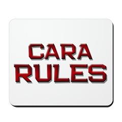 cara rules Mousepad