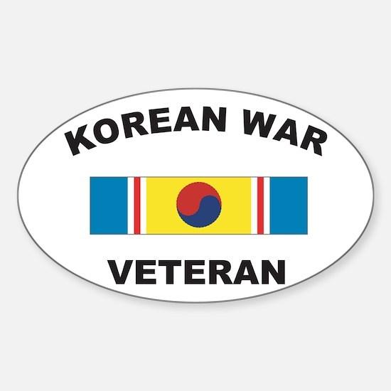 Korean War Veteran 2 Oval Decal