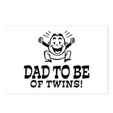 Dad To Be Twins Postcards (Package of 8)