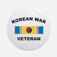 Korean War Veteran 2 Ornament (Round)