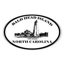 Bald Head Island NC Oval Decal
