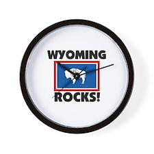Wyoming Rocks Wall Clock