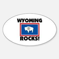 Wyoming Rocks Oval Decal