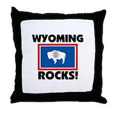 Wyoming Rocks Throw Pillow