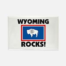 Wyoming Rocks Rectangle Magnet