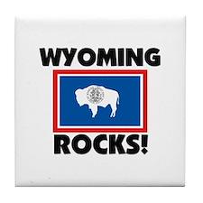 Wyoming Rocks Tile Coaster