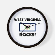 West Virginia Rocks Wall Clock